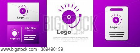 Logotype Ringing Alarm Bell Icon Isolated On White Background. Fire Alarm System. Service Bell, Hand