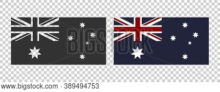 Flag Of Australia. Commonwealth Of Australia Flag. Concept Flag Of Australia. Vector Illustration