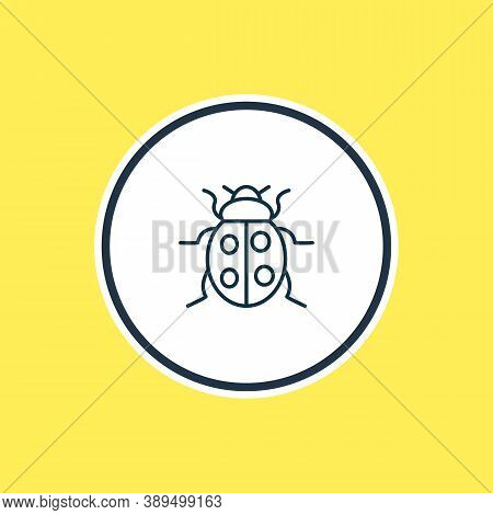 Vector Illustration Of Ladybird Icon Line. Beautiful Zoology Element Also Can Be Used As Ladybug Ico