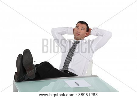 Man reclining in his chair