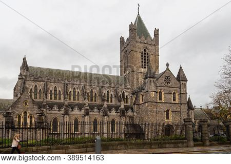 Dublin, Ireland - 09 November 2015: Christ Church Cathedral More Formally The Cathedral Of The Holy