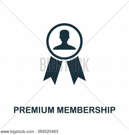 Premium Membership Icon. Simple Element From Loyalty Program Collection. Filled Premium Membership I