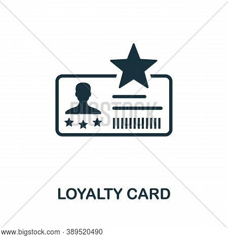 Loyalty Card Icon. Simple Element From Loyalty Program Collection. Filled Loyalty Card Icon For Temp