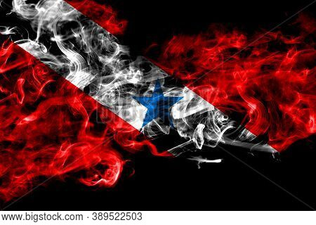 Brazil, Brazilian, Para Smoke Flag Isolated On Black Background