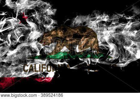 United States Of America, America, Us, Usa, American, California, Californian Smoke Flag Isolated On