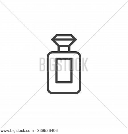 Perfume Bottle Line Icon. Linear Style Sign For Mobile Concept And Web Design. Perfume, Cologne Outl