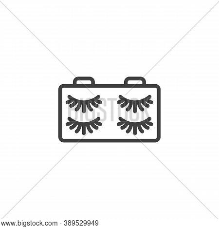 False Eyelash Line Icon. Linear Style Sign For Mobile Concept And Web Design. Eyelashes Outline Vect