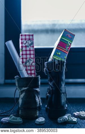 Sinterklaas, Children Can Put Their Shoe On, Early In The Morning, Typical Dutch Party Tradition, Ge