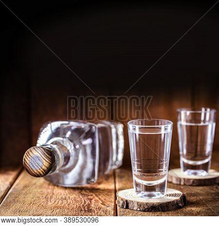 Alcoholic Beverages, Cachaça, Rum, Rum And Cognac. Selection Of Strong And Strong Alcoholic Beverage