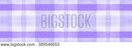 White Flannel Checks. Watercolour Tartan Material. Classic Textured Background. Seamless Flannel Che