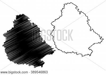 Martin County, Kentucky (u.s. County, United States Of America, Usa, U.s., Us) Map Vector Illustrati