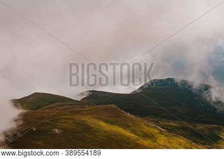 Magical Overcast Landscape Of The Montenegrin Ridge In The Carpathians, Picturesque Landscapes From