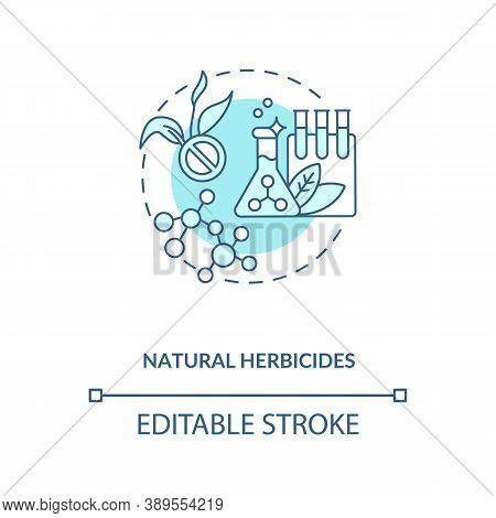 Natural Herbicides Concept Icon. Organic Farming Principles. Organic Gardening Spray Creation. Field
