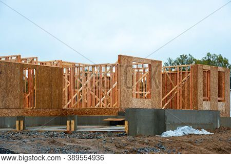 Start Of Construction Of A Plywood House