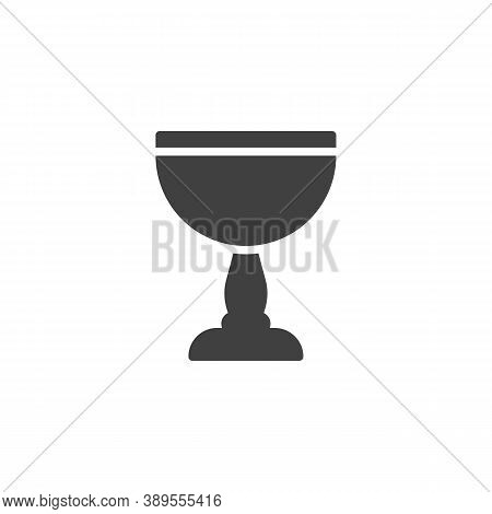 Wine Goblet Vector Icon. Filled Flat Sign For Mobile Concept And Web Design. Chalice Cup Glyph Icon.