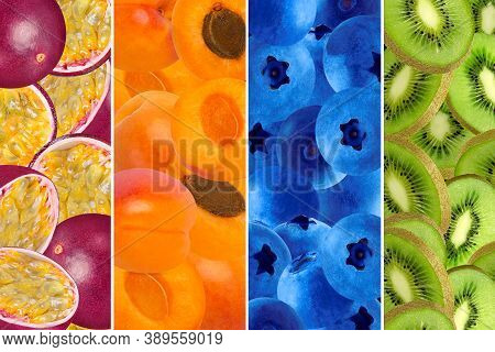 Collage From Different Pictures Of Natural Organic Food
