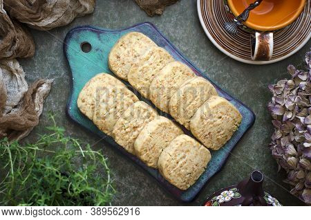 Cookies With Cheese And Thyme For A Snack