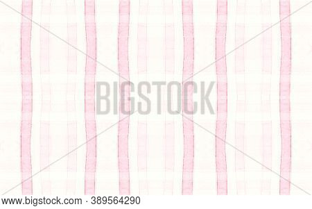 Elegant Pajama Pattern. Retro Seamless Picnic Flannel. Watercolour Stripes For Kilt Print. Pastel Wh