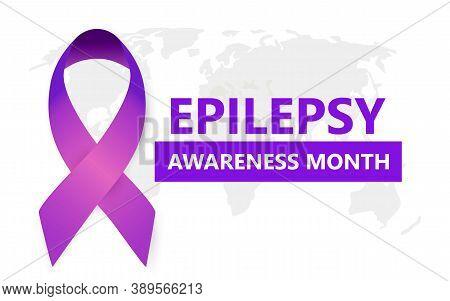 Epilepsy Awareness Month Concept Vector For Medical Banner, Website. Event Is Celebrated In November