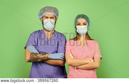 Teamwork. Nurse And Doctor. Woman And Man Work At Hospital. Private Clinic. Medical Workers. Health