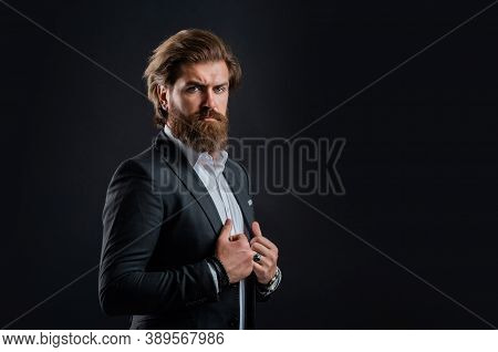 Representation Modern Successful Man Business Career, Attractive Appearance Concept