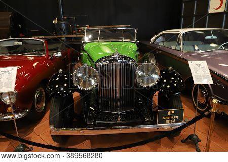 Istanbul, Turkey - September 20, 2020: 1935 Bentley 3.5 Litre Display In Rahmi M. Koc Industrial Mus