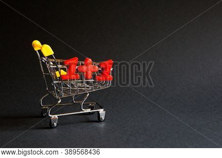 Shopping Cart And The Numbers \