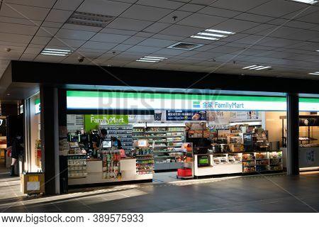 Taipei, Taiwan - Oct 1st, 2020:  Family Mart at Taipei main station, Taipei, Taiwan