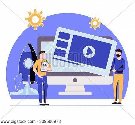 Landing Page Development Website Ui Kit. Product Landing Page, Website Development, Marketing Servic