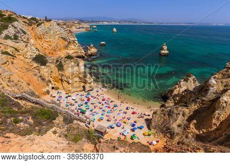 Beach in Lagos - Algarve region in Portugal