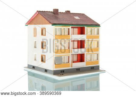 apartments building isolated over white background
