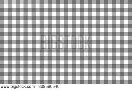 Gray Black White Checkered Background. Space For Graphic Design. Checkered Texture. Classic Checkere