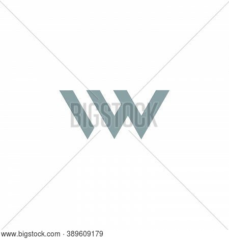 Letter Iw Simple Linear Abstract Geometric Logo Vector