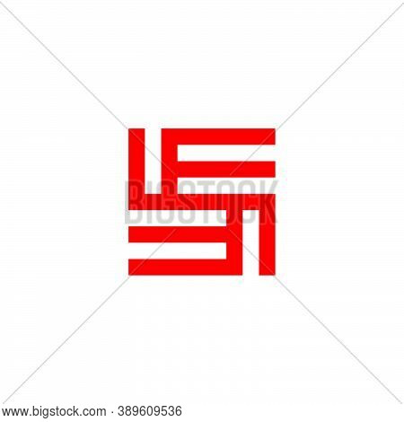 Abstract Letter Se Square Geometric Line Logo Vector