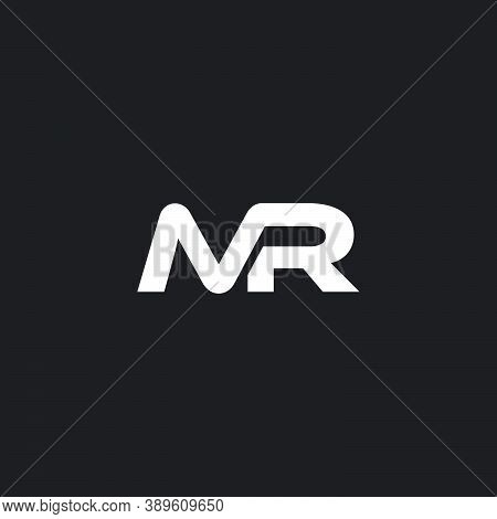 Letter Mr Simple Linked Curves Logo Vector