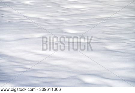 The Snow Land Texture As Natural Background