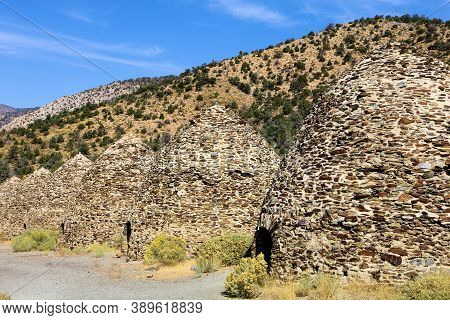 October 5, 2020 In Death Valley, Ca:  Historic Kilns Which Were Ovens To Make Charcoal To Use As Fue