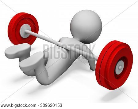 Character Gym Representing Physical Activity And Weakness 3d Rendering