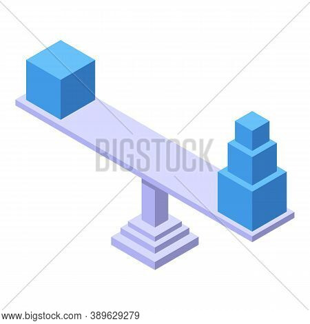 Toys Comparison Icon. Isometric Of Toys Comparison Vector Icon For Web Design Isolated On White Back