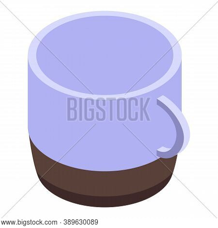 Steam Mug Icon. Isometric Of Steam Mug Vector Icon For Web Design Isolated On White Background