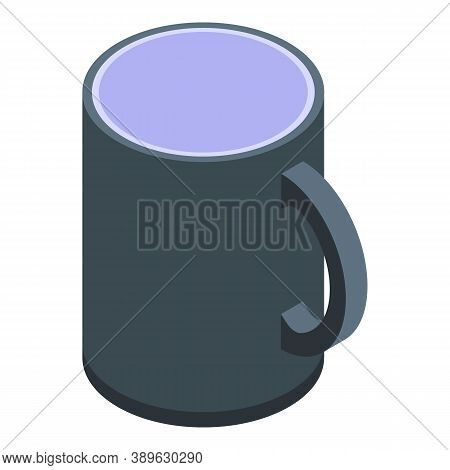 Thermo Mug Icon. Isometric Of Thermo Mug Vector Icon For Web Design Isolated On White Background