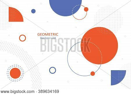 Minimal Geometric Abstract On White Background. Element Design With Round Shapes And Decorate With D