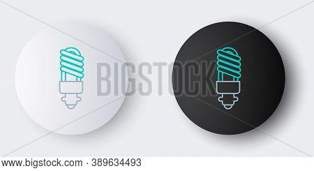 Line Led Light Bulb Icon Isolated On Grey Background. Economical Led Illuminated Lightbulb. Save Ene