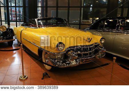 Istanbul, Turkey - September 20, 2020: 1953 Cadillac Convertible Display In Rahmi M. Koc Industrial