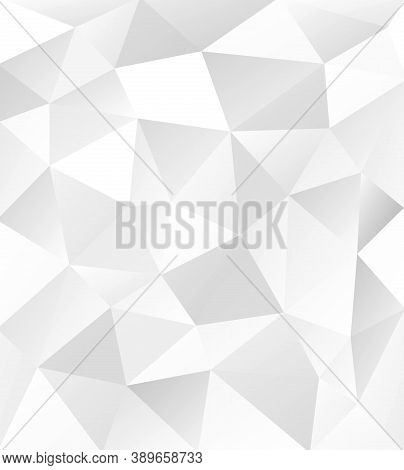 Geometric Vector Abstract Pattern. Geometric Modern Silver Ornament For Designs And Backgrounds