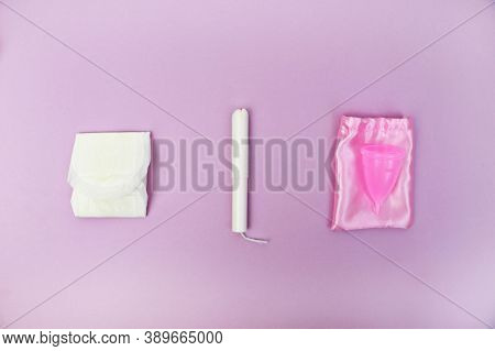 Female Tampon. Menstrual Tampons For Women Health Care, Cotton Tampon, Intimate Hygiene, Gynecologic