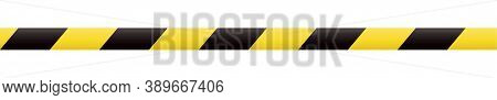 Barricade Tape. Boundary Line. Yellow And Black Barrier Tape. Construction Border.