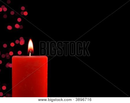 Lighted Christmas Candle