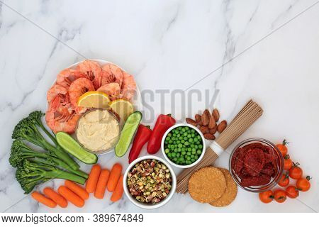 Low glycemic healthy food for diabetics with vegetables, seafood, noodles, dips, cereal & grain products. Below 55 on the GI scale & high in antioxidants, fibre, protein, omega 3, vitamins & minerals.