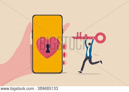 Dating Apps, Online Dating Using Internet And Social Media To Find Romantic Relationship Concept, Yo